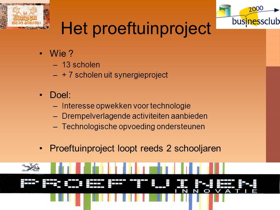 Het proeftuinproject Wie .