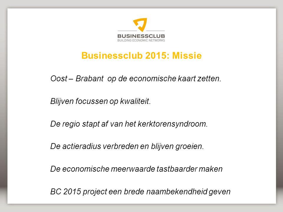 Businessclub 2015: Missie Oost – Brabant op de economische kaart zetten.
