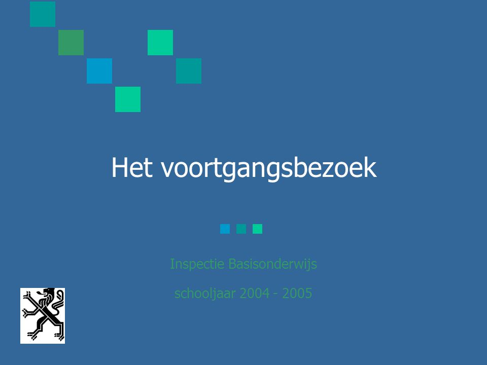 Het voortgangsbezoek Inspectie Basisonderwijs schooljaar 2004 - 2005