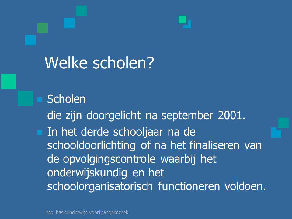 insp. basisonderwijs voortgangsbezoek Welke scholen.