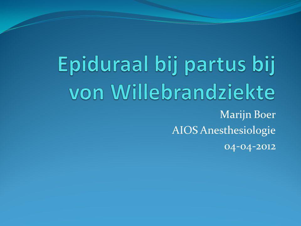 Marijn Boer AIOS Anesthesiologie 04-04-2012