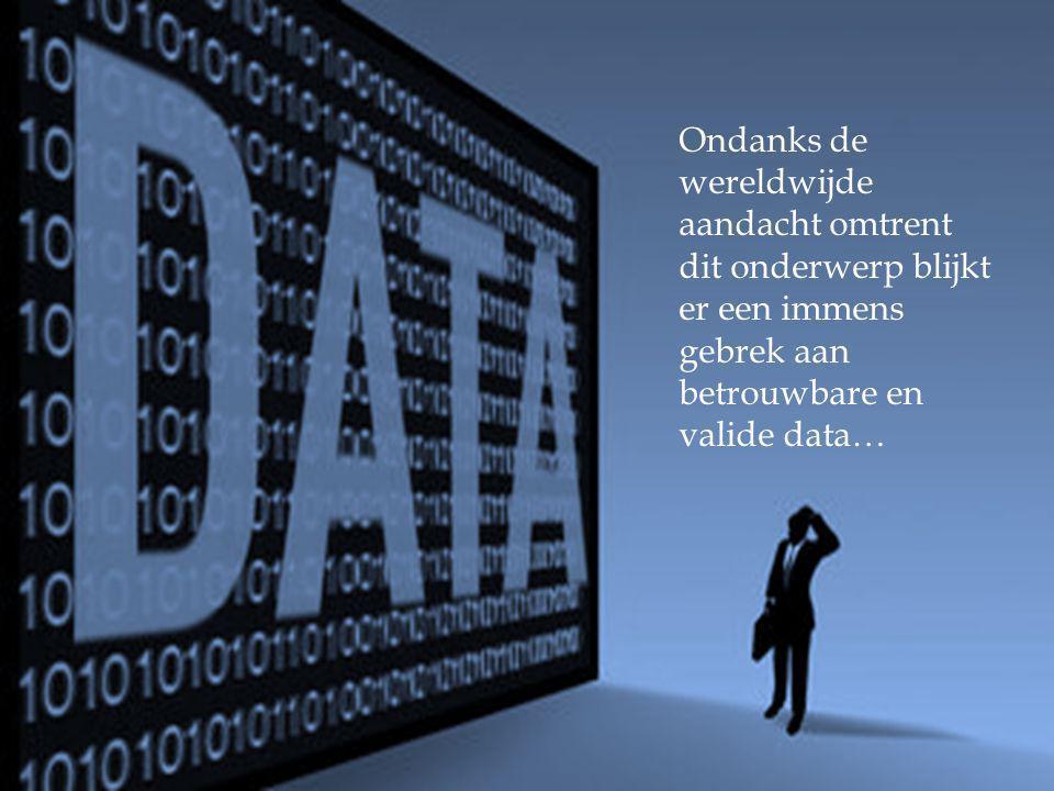 Ondanks de wereldwijde aandacht omtrent dit onderwerp blijkt er een immens gebrek aan betrouwbare en valide data…