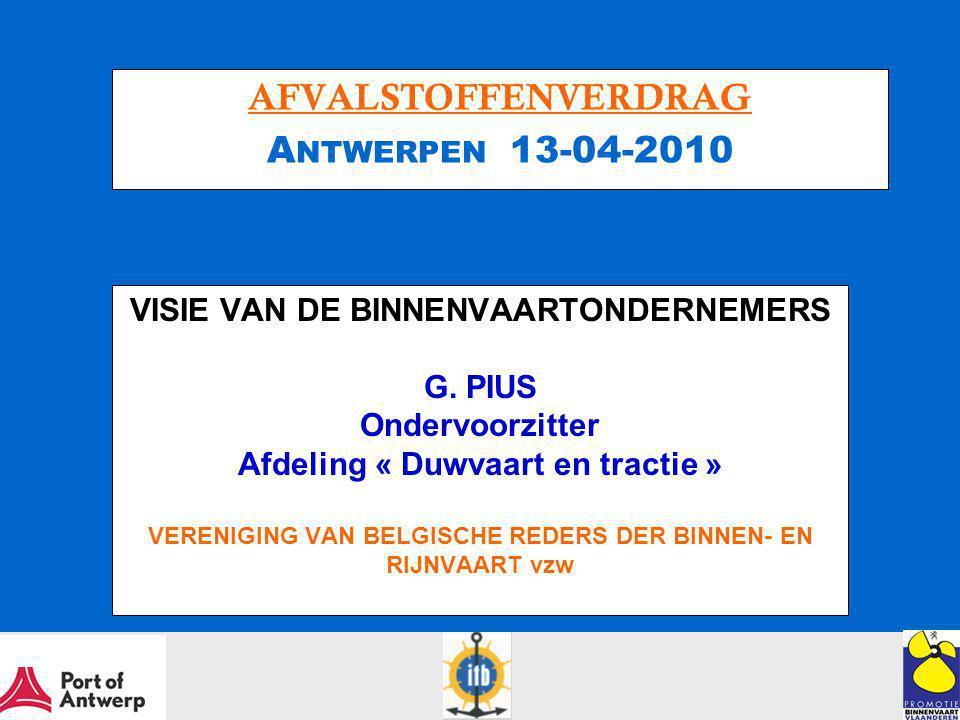 VISIE VAN DE BINNENVAARTONDERNEMERS G.