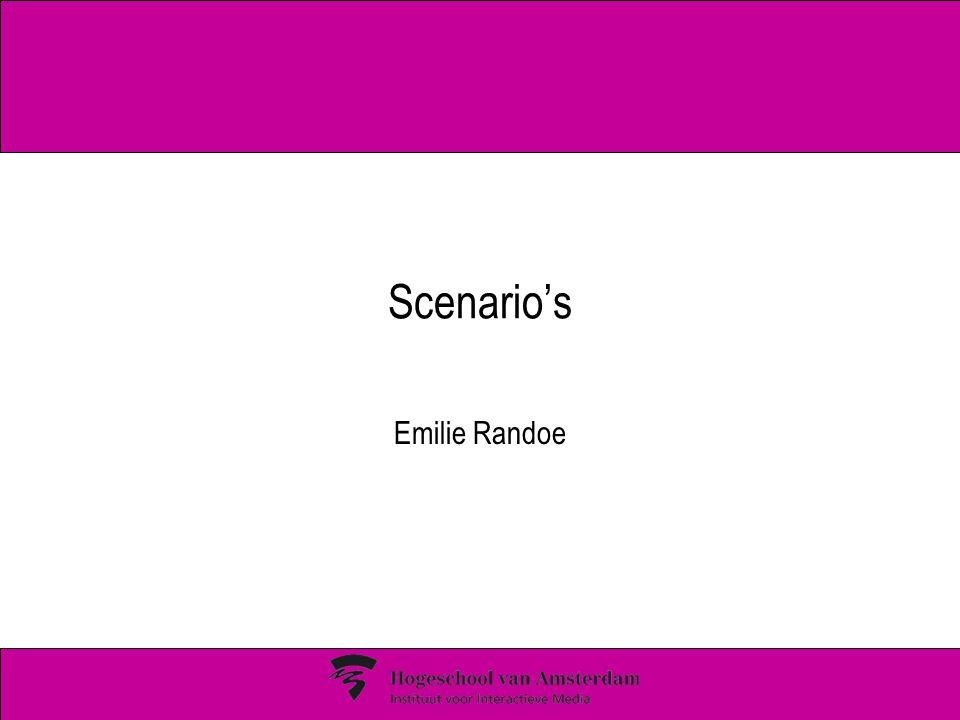 Scenario's Emilie Randoe