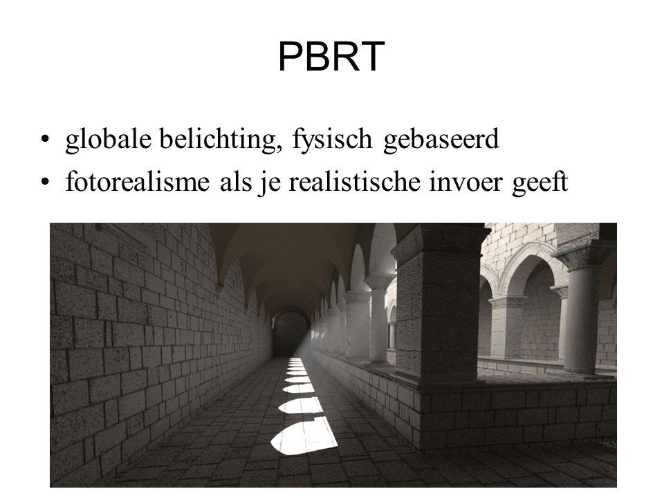 PBRT globale belichting, fysisch gebaseerd fotorealisme als je realistische invoer geeft