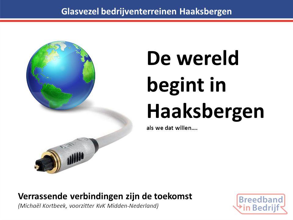 Glasvezel bedrijventerreinen Haaksbergen De wereld begint in Haaksbergen als we dat willen…. Verrassende verbindingen zijn de toekomst (Michaël Kortbe