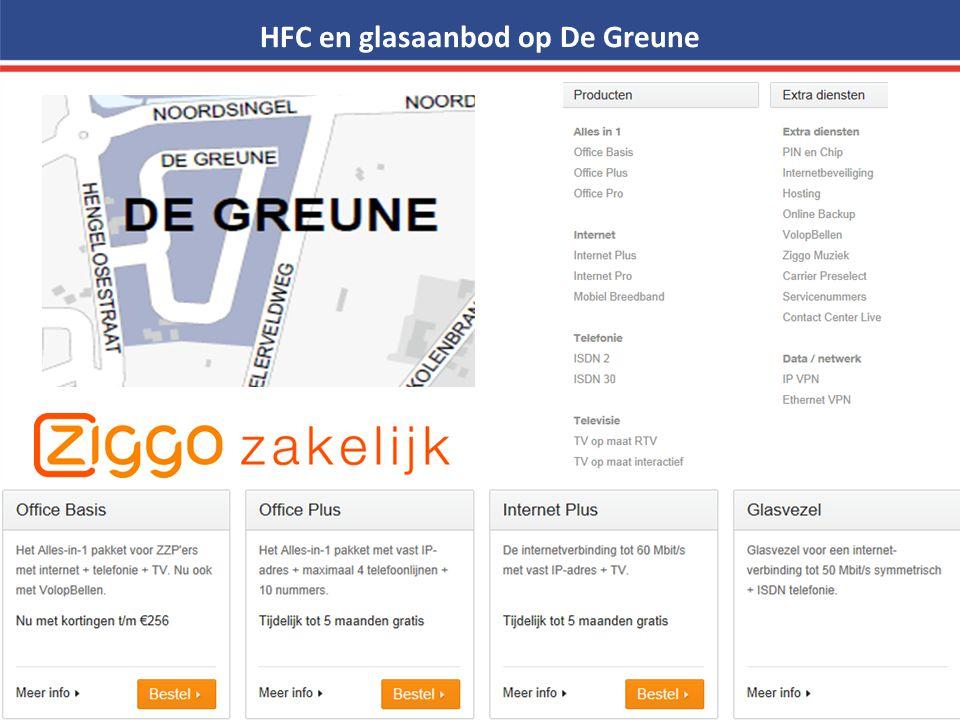 HFC en glasaanbod op De Greune