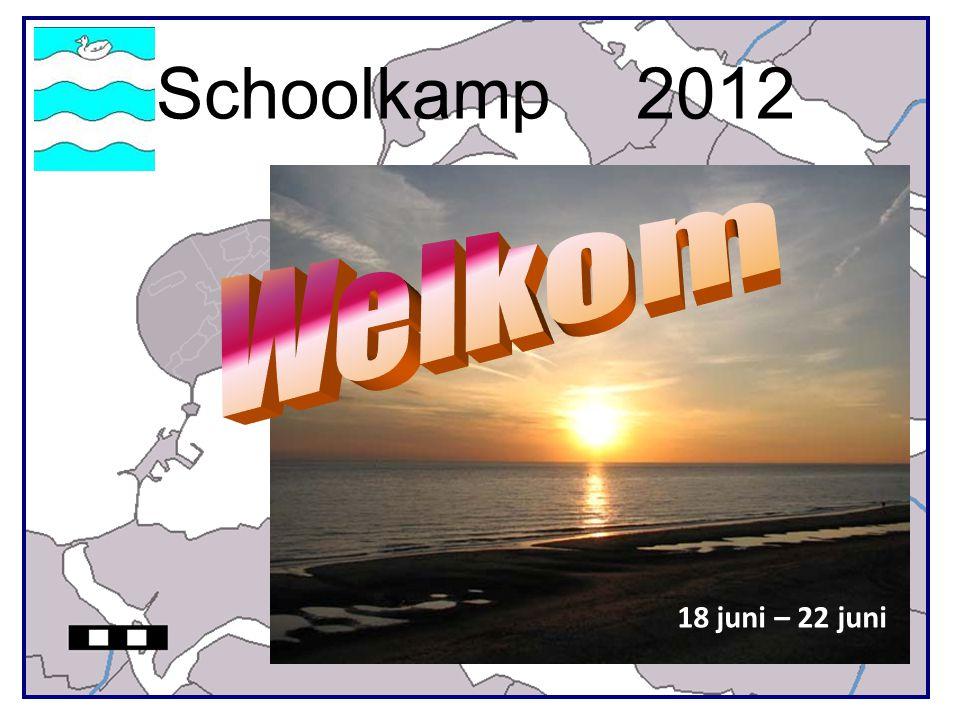 Kamp groep 8 2012 Informatieavond 1Kampplaats 2Kampleiding 3Aankomst/vertrek 4Kampboekje 5Medische zorg 6Programma 7Regels afspraken 8Slot