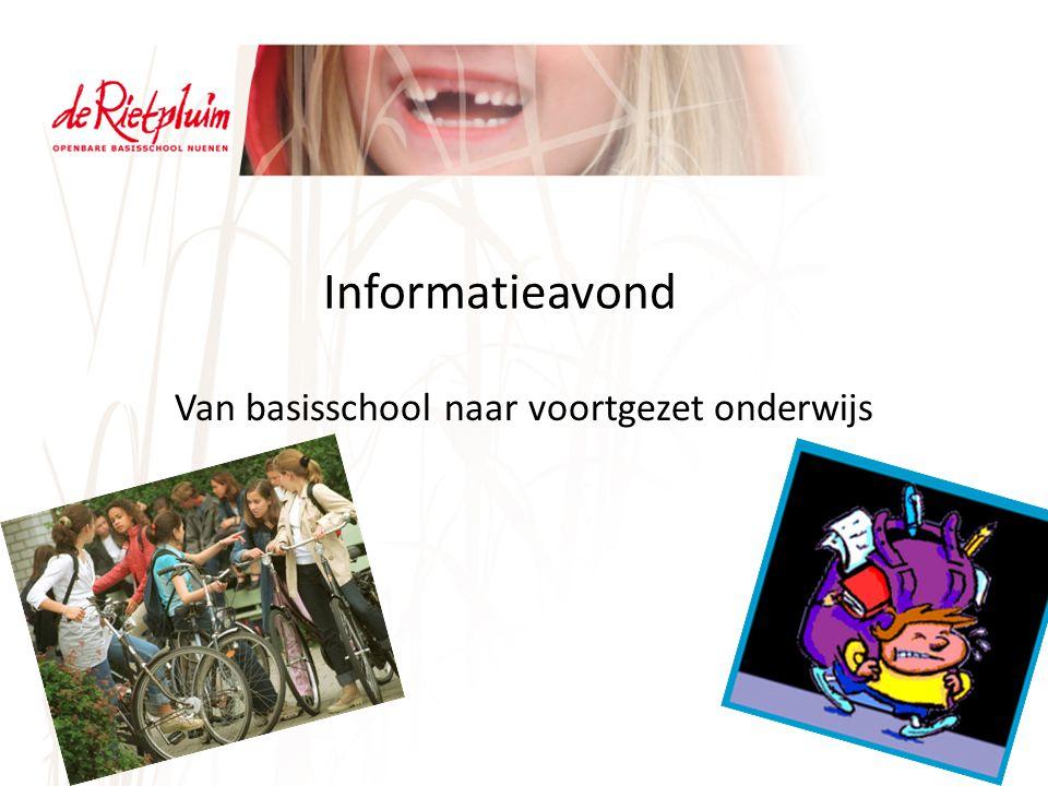 Informatieavond Van basisschool naar voortgezet onderwijs