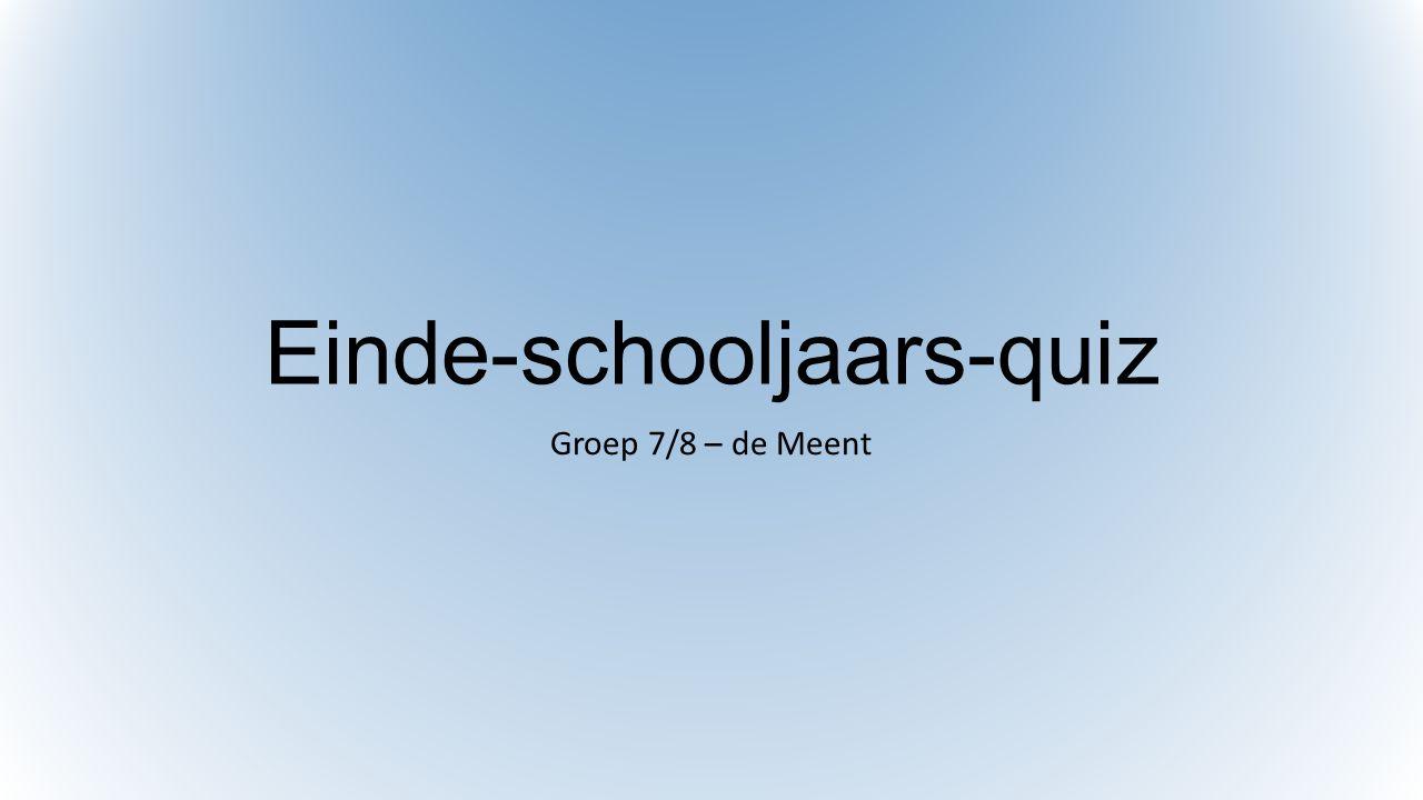 Einde-schooljaars-quiz Groep 7/8 – de Meent