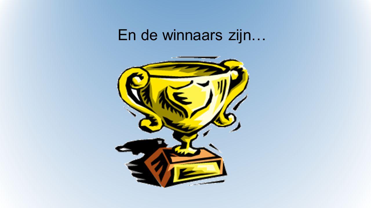 En de winnaars zijn…