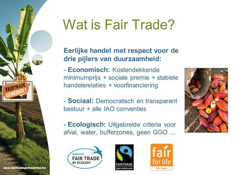 Meer dan 1.000 fairtradeproducten: - Koffie - Thee - Chocolade - Fruitsap - Vers fruit - Wijn - Bier - Suiker - Honing - Rijst - Juwelen - Cosmetica - Katoen - Bloemen - Koekjes en snoep - Specerijen/kruiden - Yoghurt - Ijs