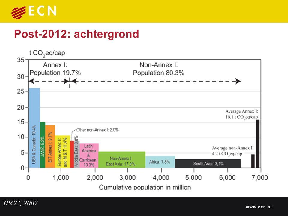 Post-2012: achtergrond IPCC, 2007