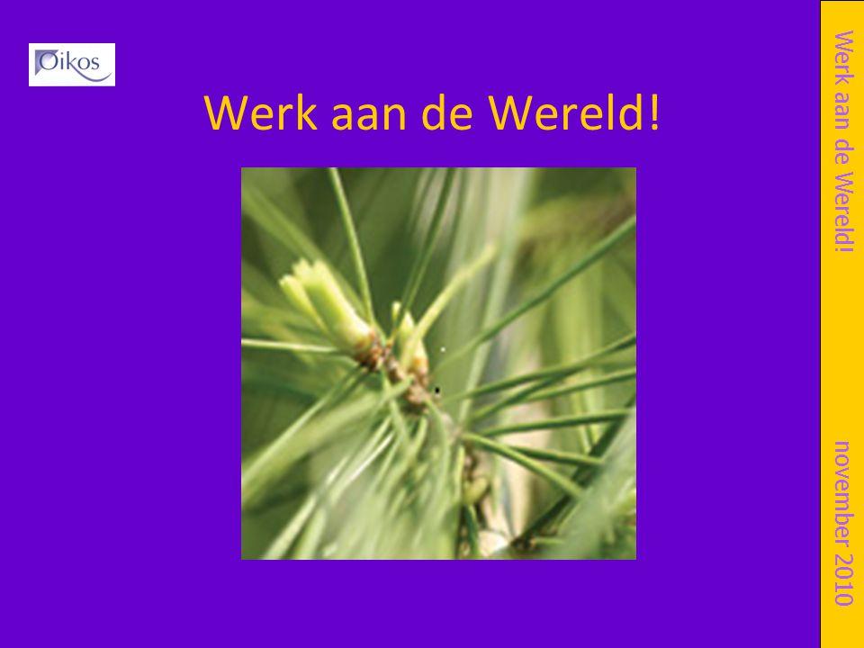 Werk aan de Wereld! Titel Symposium of presentatie datum Werk aan de Wereld!november 2010
