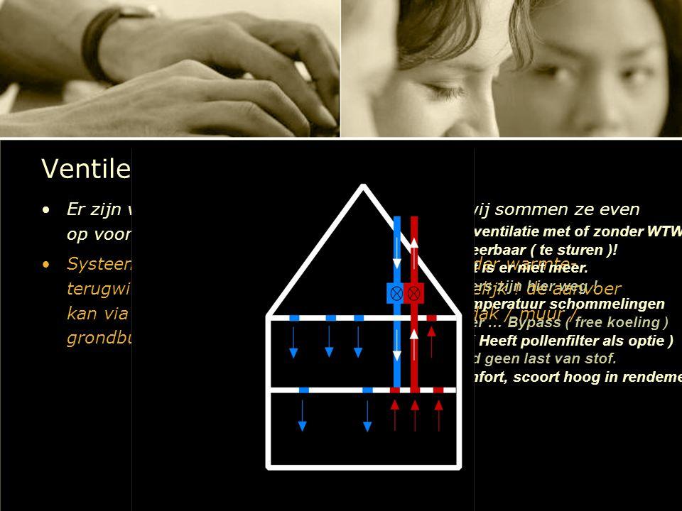 Ventileren, waarom en hoe ? Er zijn verschillende manier om te ventileren, wij sommen ze even op voor u : Systeem D : Mechanische ventilatie met of zo