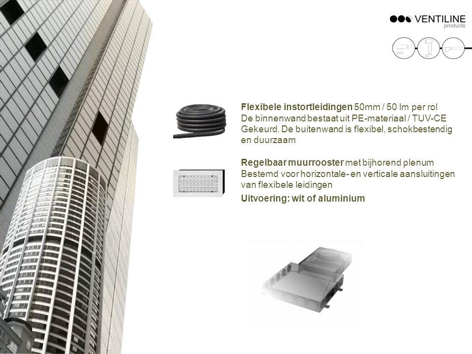 Flexibele instortleidingen 50mm / 50 lm per rol De binnenwand bestaat uit PE-materiaal / TUV-CE Gekeurd. De buitenwand is flexibel, schokbestendig en