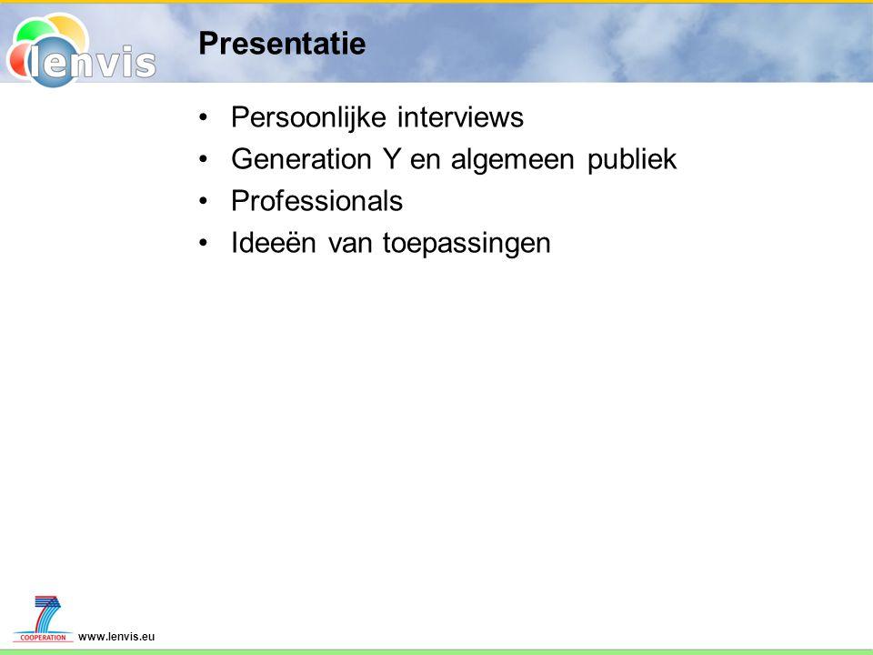 www.lenvis.eu Persoonlijk Wat willen gebruikers zien.