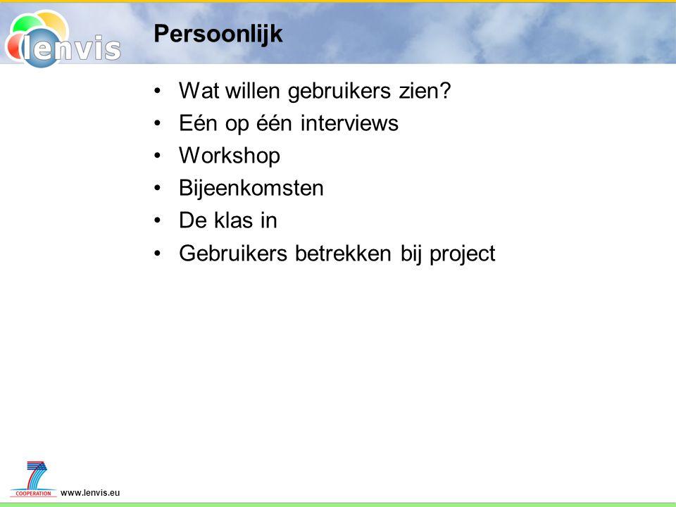 www.lenvis.eu Wat zijn uw ideeën.Over wat voor informatie beschikt u.