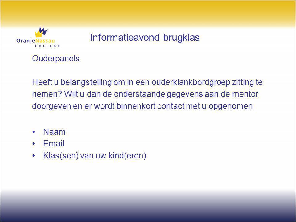 Informatieavond brugklas Algemene zaken in de afdeling Dhr.