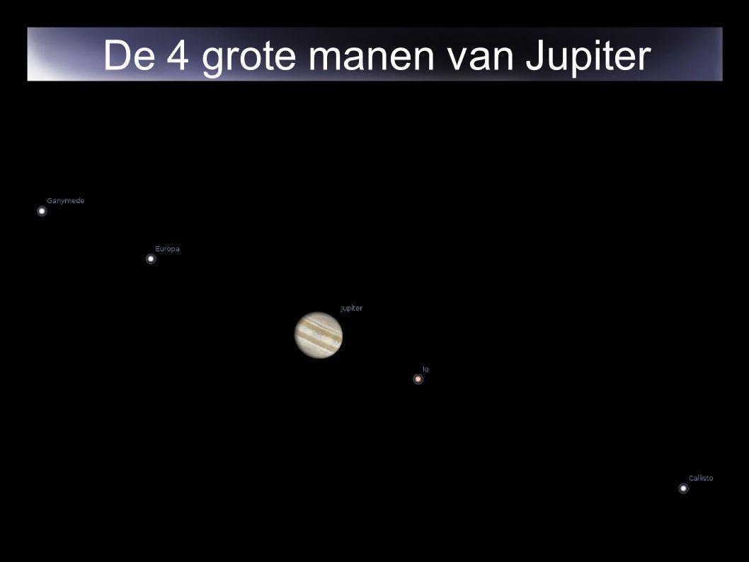 De 4 grote manen van Jupiter