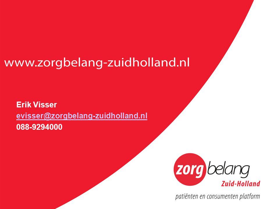 Erik Visser evisser@zorgbelang-zuidholland.nl 088-9294000