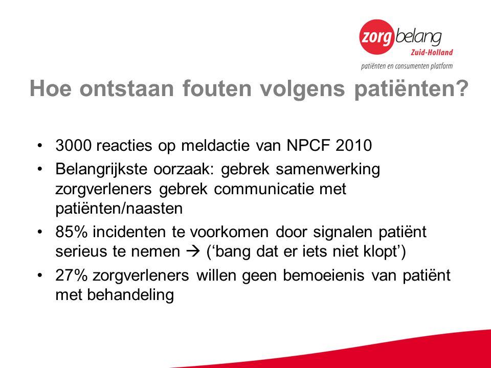 Hoe ontstaan fouten volgens patiënten.