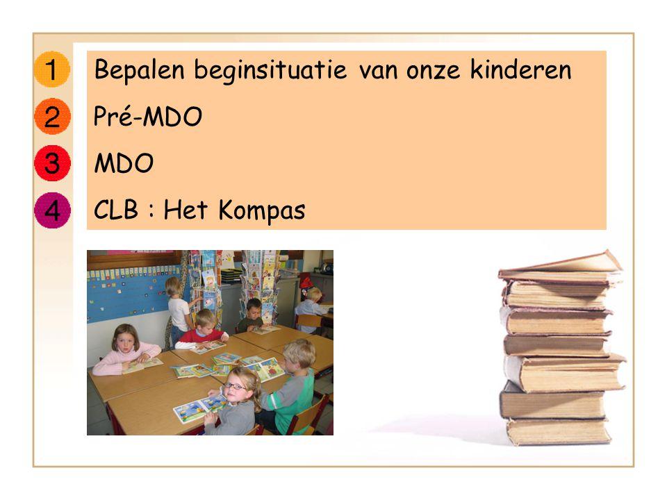 Bepalen beginsituatie van onze kinderen Pré-MDO MDO CLB : Het Kompas