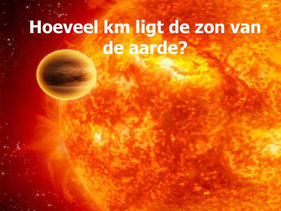 Hoeveel km ligt de zon van de aarde?