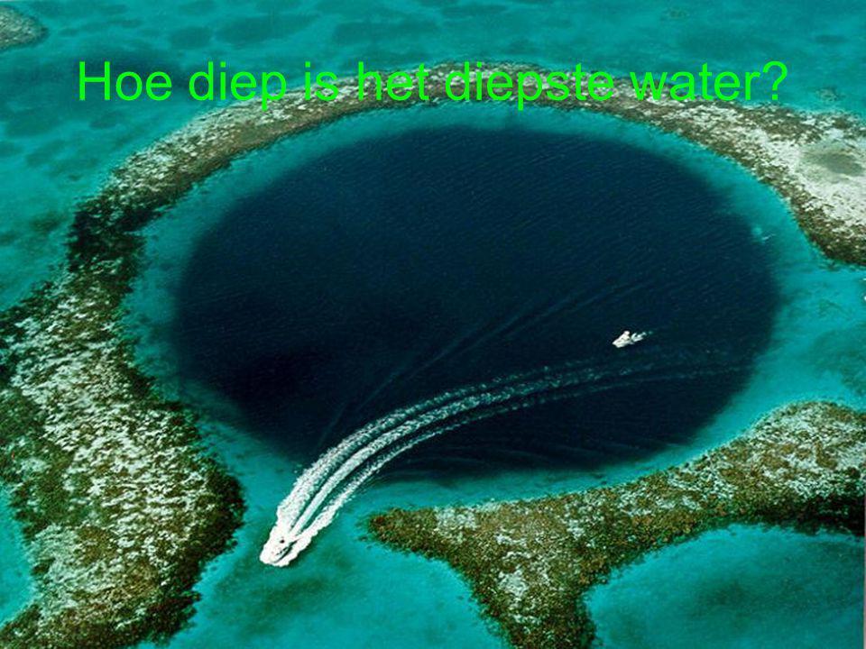 Hoe diep is het diepste water?