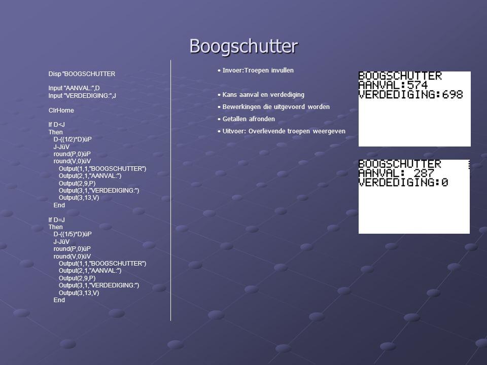 Boogschutter Disp