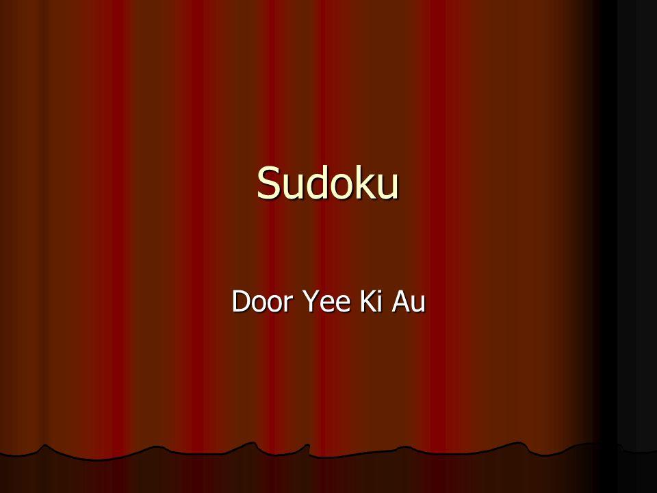 Sudoku Door Yee Ki Au