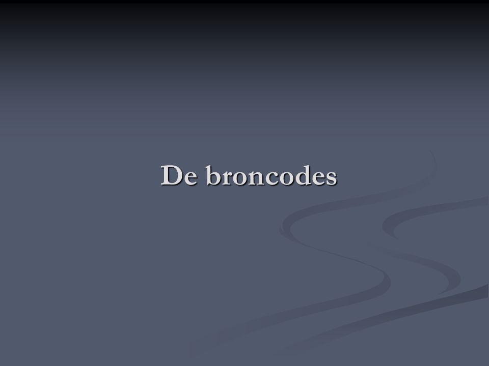 De broncodes