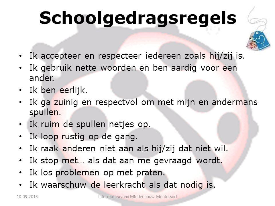 Schoolgedragsregels Ik accepteer en respecteer iedereen zoals hij/zij is.