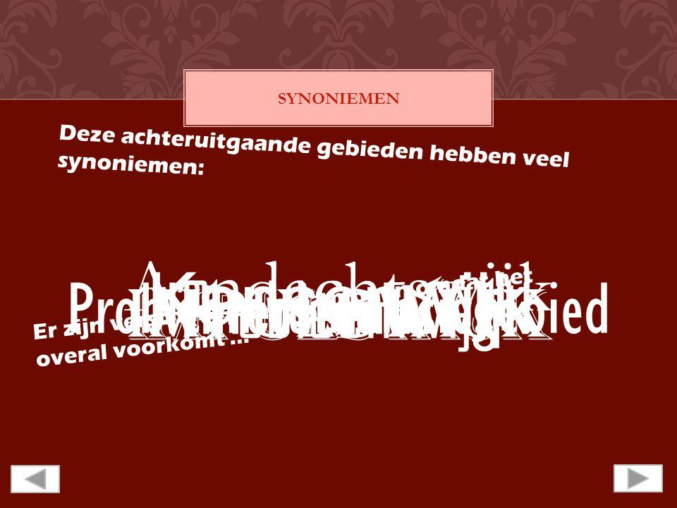 SYNONIEMEN D e z e a c h t e r u i t g a a n d e g e b i e d e n h e b b e n v e e l s y n o n i e m e n : Aandachtswijk Kansenwijk Probleemwijk Achterstandswijk Impulswijk Probleemcumulatiegebied E r z i j n v e r s c h i l l e n d e b e n a m i n g e n o m d a t h e t o v e r a l v o o r k o m t …