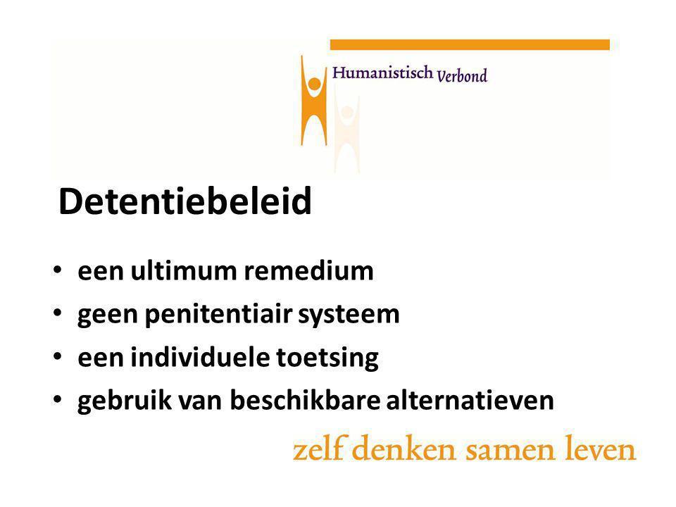 Detentiebeleid een ultimum remedium geen penitentiair systeem een individuele toetsing gebruik van beschikbare alternatieven