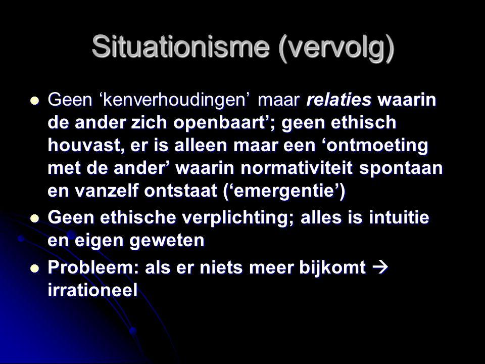   Situationisme (als 'ontmoeting' met een 'ander') 1906 – 1995
