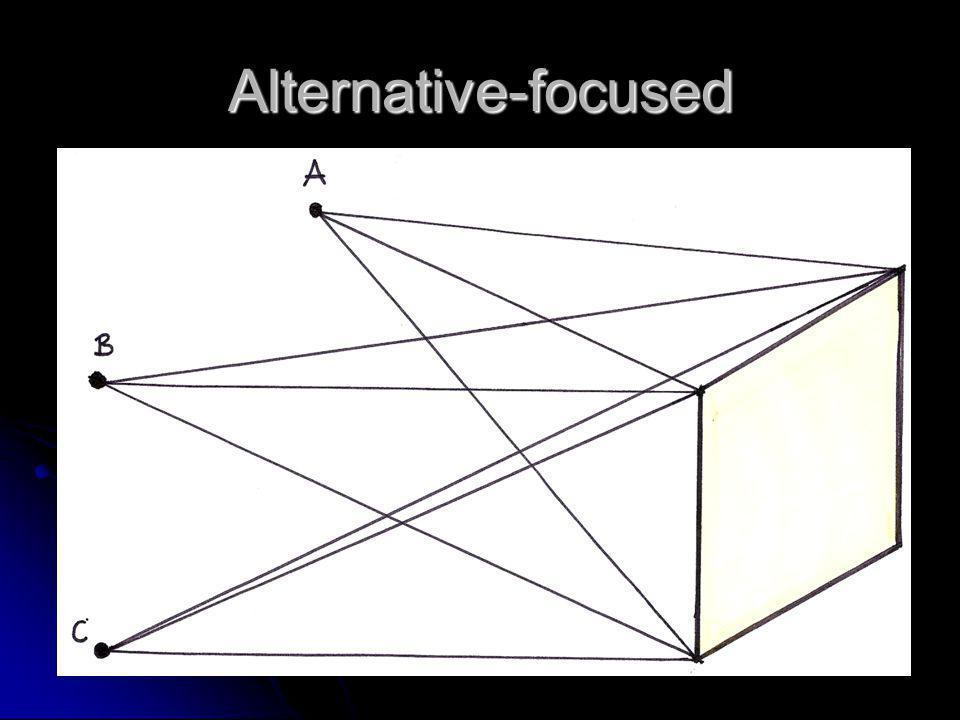 Alternative-focused