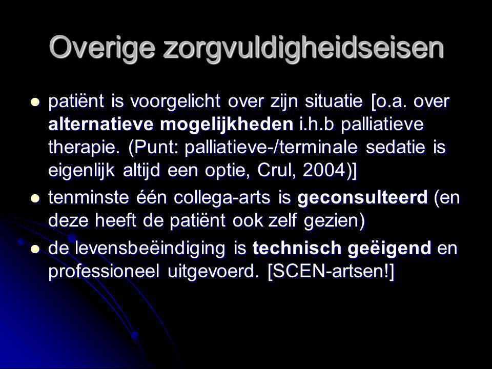 Overige zorgvuldigheidseisen patiënt is voorgelicht over zijn situatie [o.a.