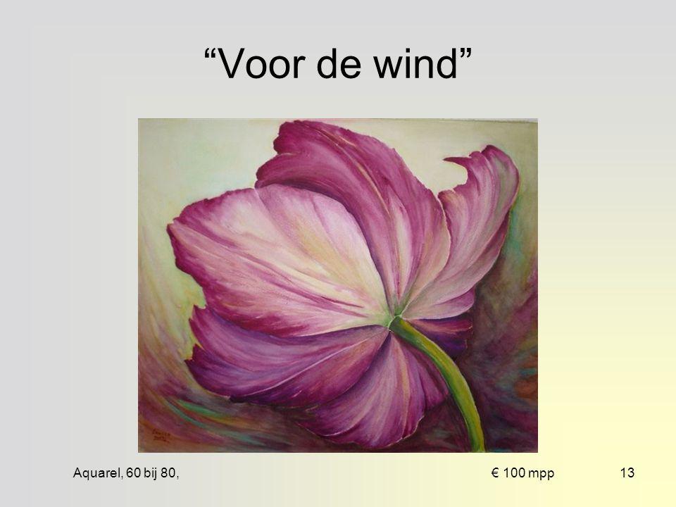 Aquarel, 72 bij 51, € 100 zpp12 Blauwe iris