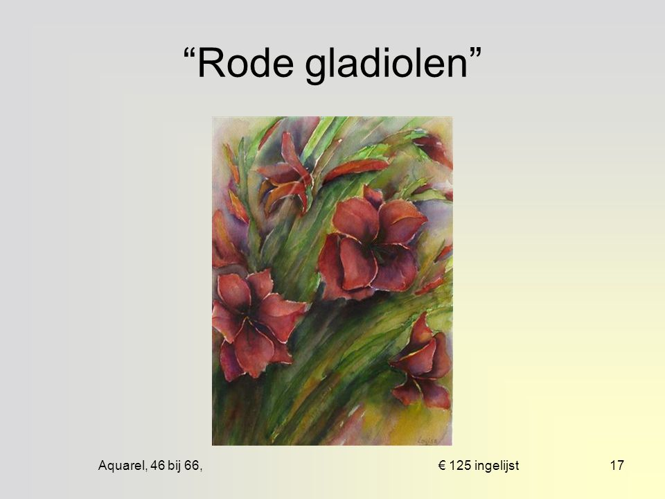 Aquarel, 55 bij 83, € 100 mpp16 Rode anemonen