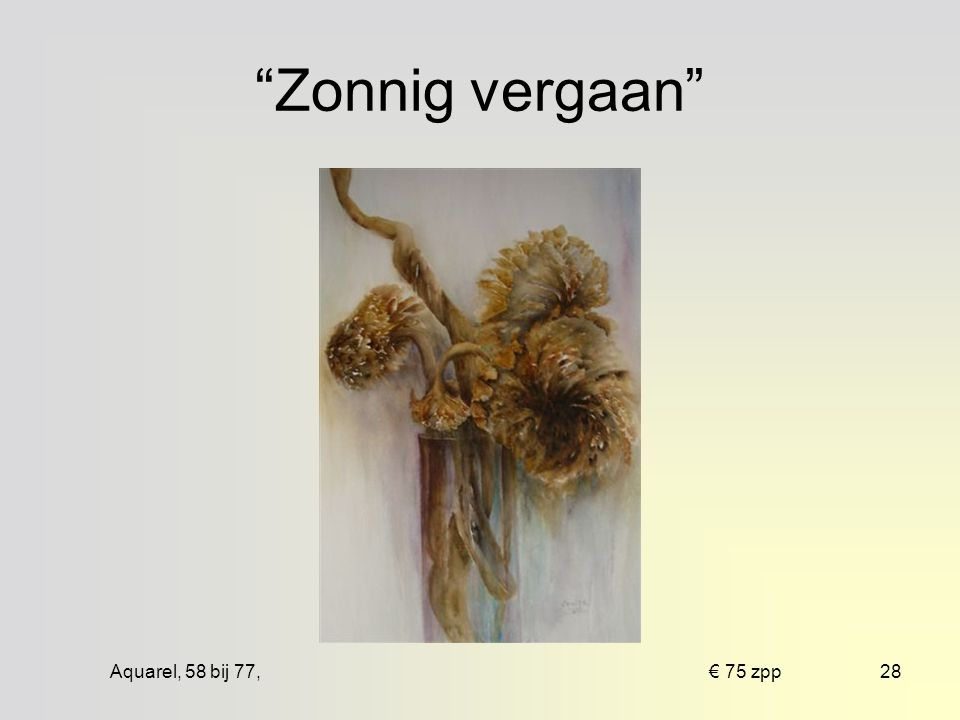 Aquarel, 83 bij 83, € 175 ingelijst27 Bevrijding