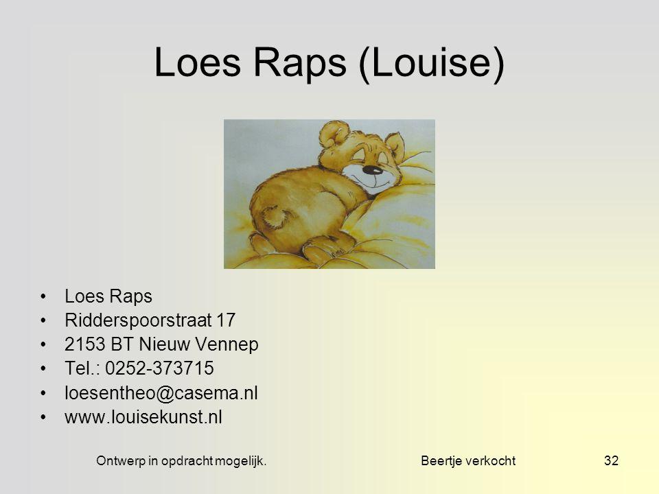 zpp = zonder passe partout, mpp = met passe partout31 Loes Raps (Louise) © Productie en presentatie Loes de Blok.