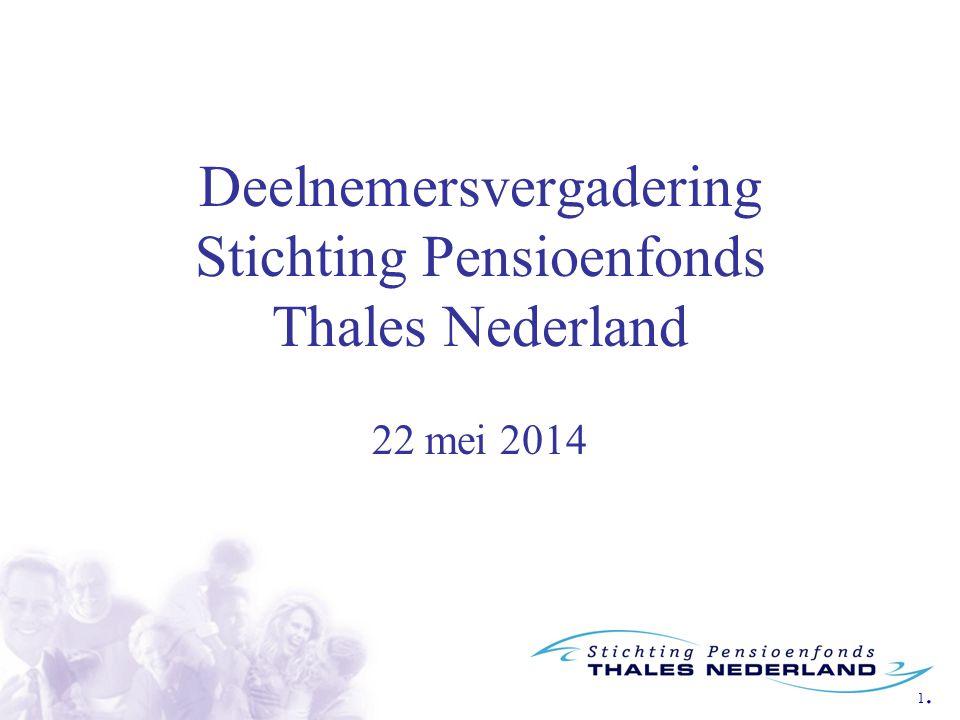 1.1. Deelnemersvergadering Stichting Pensioenfonds Thales Nederland 22 mei 2014