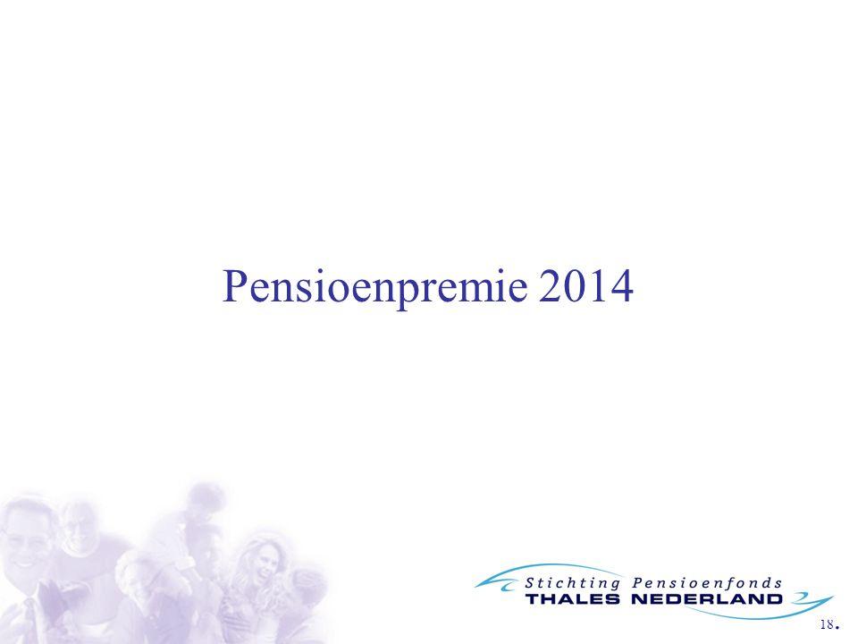 18. Pensioenpremie 2014