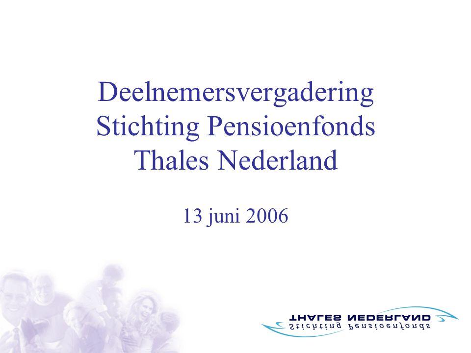 Deelnemersvergadering Stichting Pensioenfonds Thales Nederland 13 juni 2006