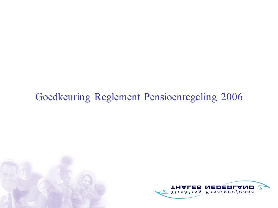 Goedkeuring Reglement Pensioenregeling 2006