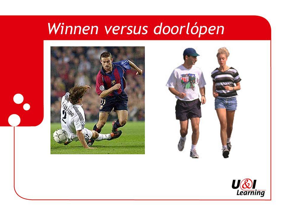 Winnen versus doorlópen