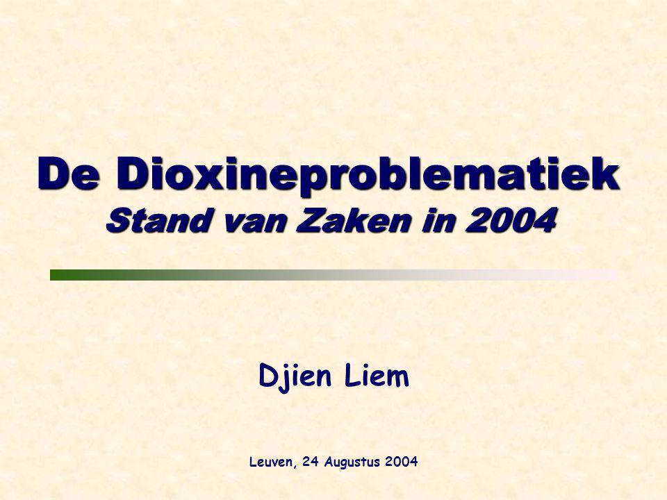 De Dioxineproblematiek Stand van Zaken in 2004 Djien Liem Leuven, 24 Augustus 2004