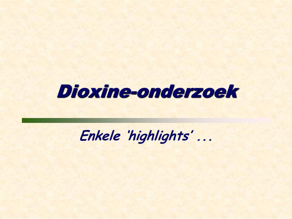 Dioxine-onderzoek Enkele 'highlights'...