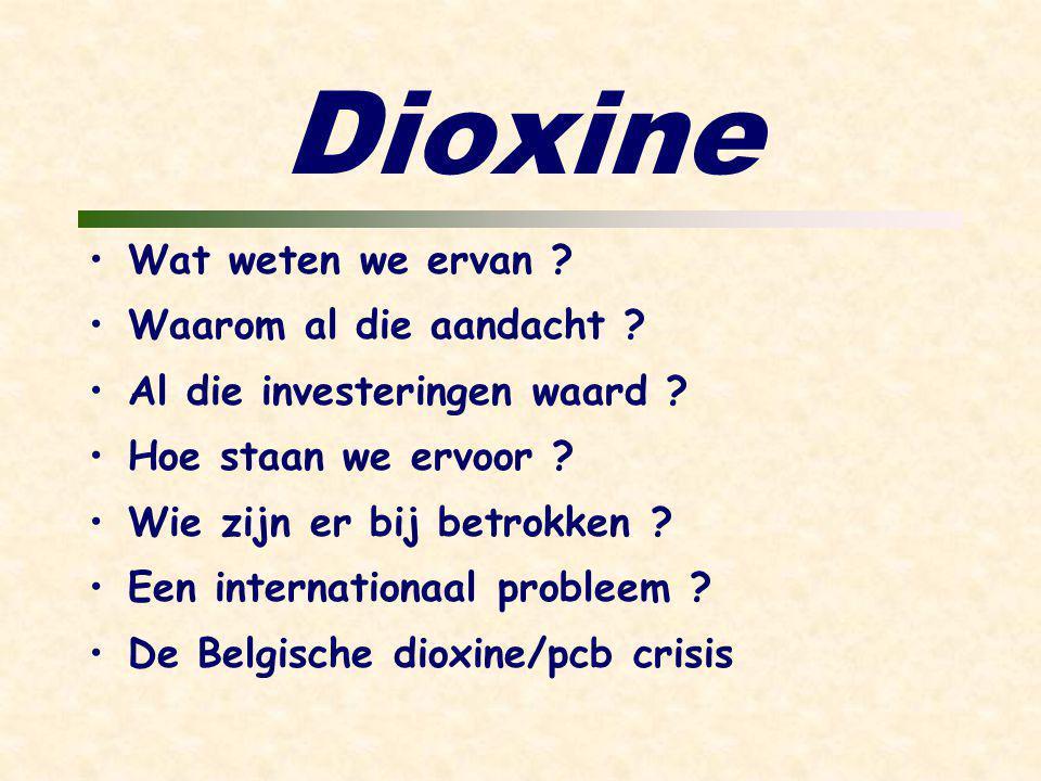 Dioxine Wat weten we ervan . Waarom al die aandacht .